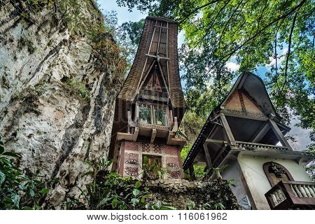 Toraja Traditional Funeral Tomb