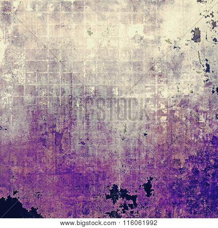 Highly detailed grunge texture or background. With different color patterns: brown; purple (violet); pink; gray