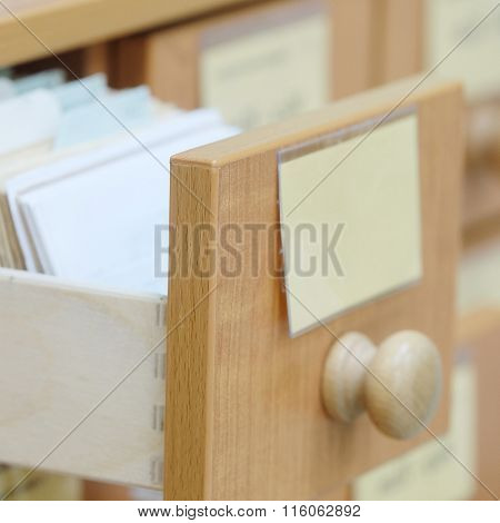 The image of a library catalog
