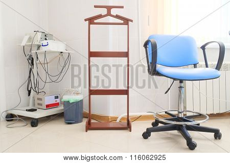 Blue chair in gynecological room