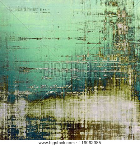 Abstract grunge background of old texture. With different color patterns: brown; blue; green; white; gray