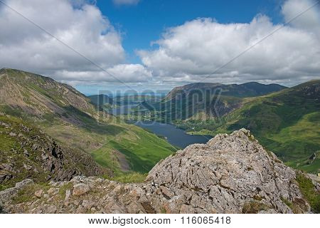 Hill Walkers View of Buttermere Lake