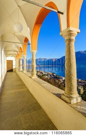 View Of The Locarno And Lake Maggiore From The Madonna Del Sasso Church