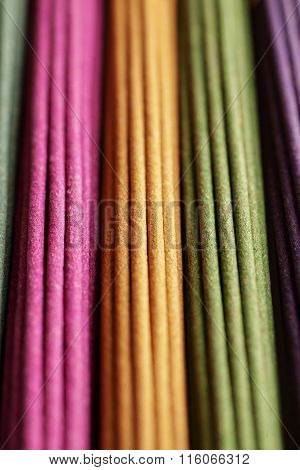 Rows Of Colored Aroma Sticks