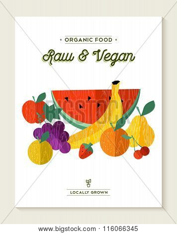 Vegan And Vegetarian Food Concept With Fruits