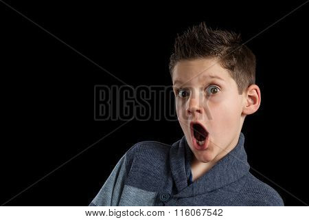 Surprised Boy With Mouth Open