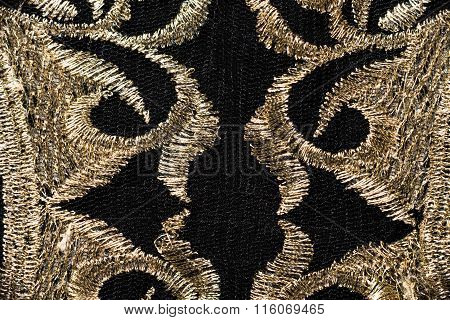 Golden Embroidery On Black