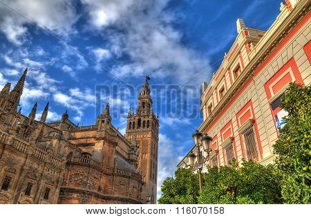 Cathedral de Santa Maria de la Sede at Plaza del Triunfo, Seville