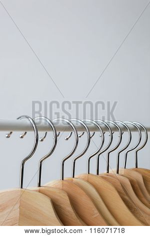 Number Of Empty Hangers After A Major Sell-off In The Store.