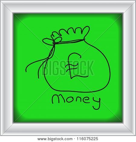 Simple Doodle Of A Money Bag