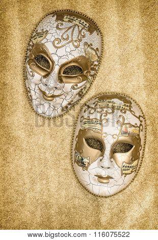 Carnival Mask Harlequin. Mardi Gras. Venetian Mask Festival