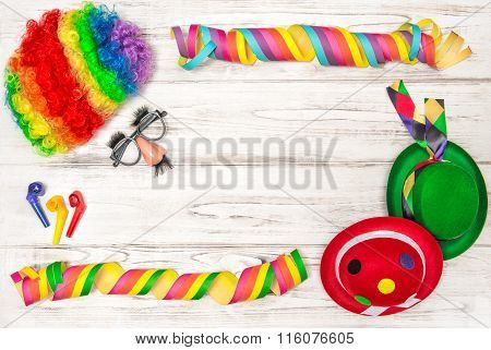 Carnival Mask Clown. Party Decoration