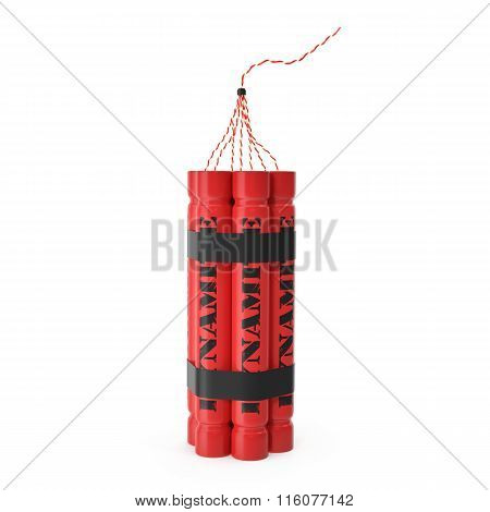 TNT, dynamite bomb isolated on white background
