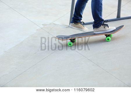 skateboarding  at skatepark