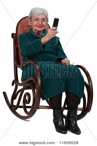 Senior Woman Taking Photos With A Phone