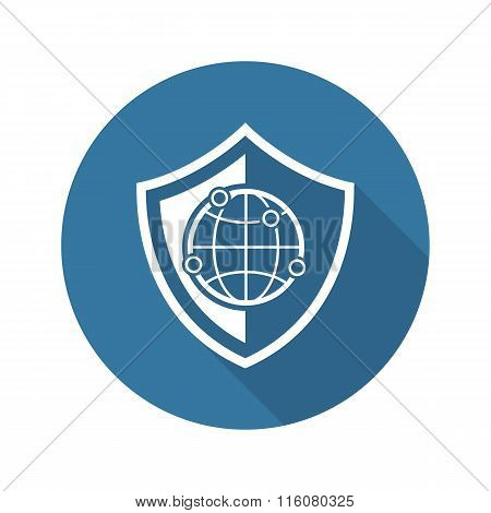 Network Security Icon. Flat Design.