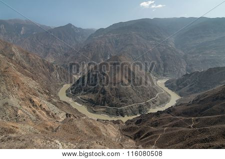 The Omega Bend Of Yangtze River Yunnan Province, China