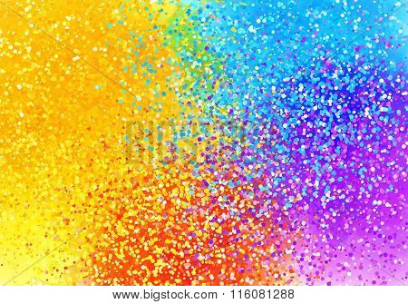Bright sprayed paint rainbow colors abstract horizontal background