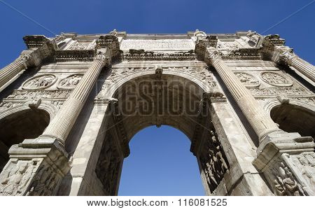 Constantine's Arch In Rome, Italy