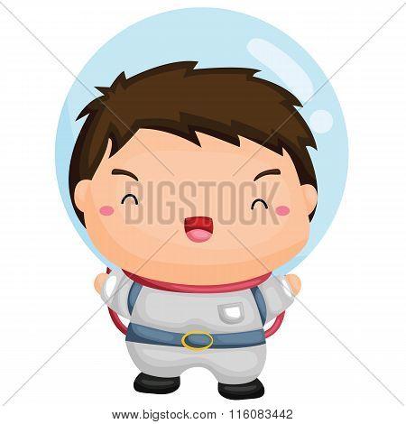 Cute Astronaut Boy