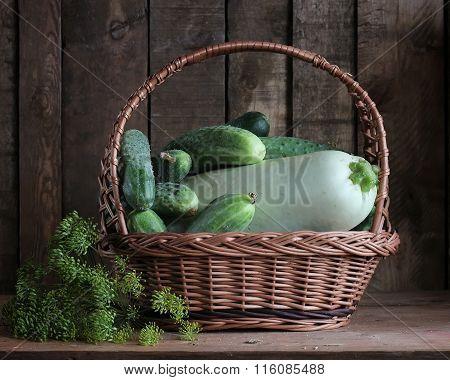 Vegetables In A Basket.