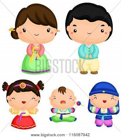 Cute Korean Family
