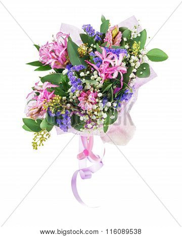 Bouquet Of Nerine,Hyacinth, Statice And Other Flowers.