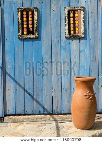 Blue Door In Old Mexico