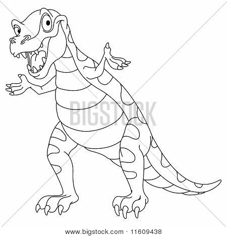 Outlined Dinosaur