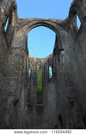 Ruins of a monastery in Oybin, Germany