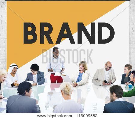 Business People Meeting Brand Marketing Concept