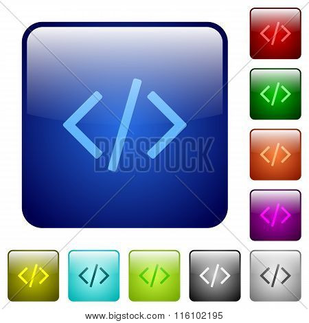 Color Programming Code Square Buttons