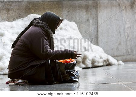 Anonymous Female Beggar