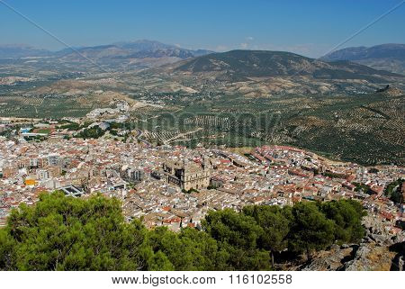 Elevated view of Jaen.