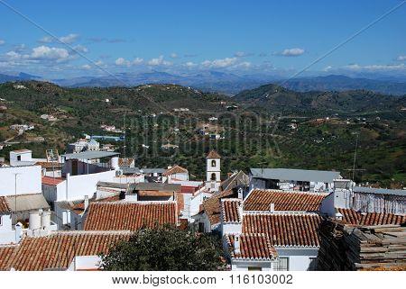Guaro village rooftops.