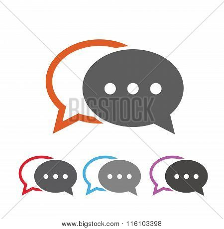 Dialog bubbles flat style icon