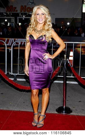 WESTWOOD, CALIFORNIA - October 26, 2010. Gretchen Rossi at the Los Angeles premiere of