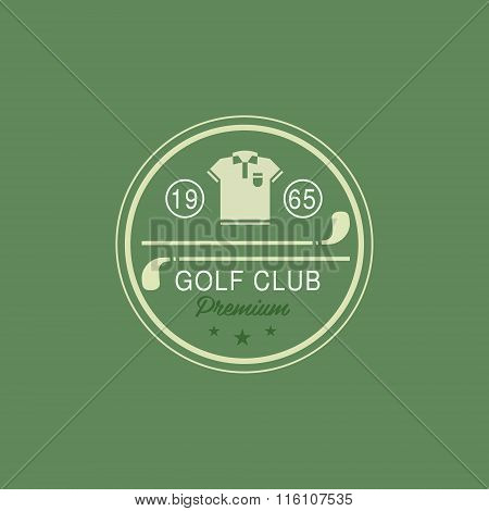 Glod Club Emblem. Vector Illustration