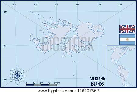 Map of Falkland Islands