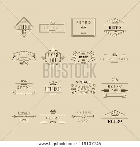 Retro Labels. Vector Illustration Set
