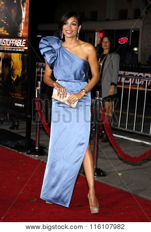 WESTWOOD, CALIFORNIA - October 26, 2010. Rosario Dawson at the Los Angeles premiere of