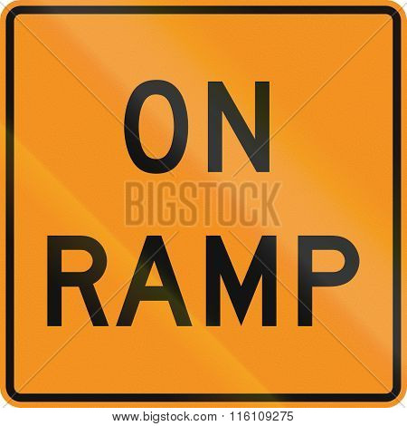 United States Mutcd Road Sign - On Ramp
