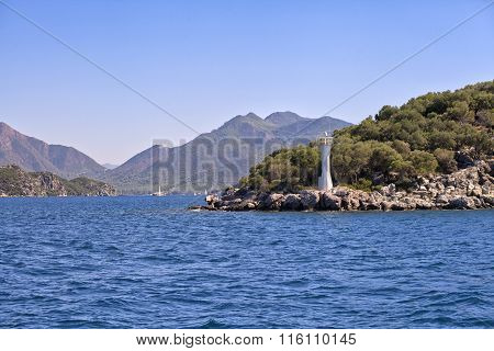 Entering the bay of Marmaris