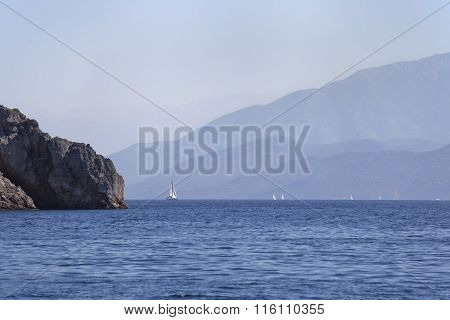 The sea and the mountains in Turkey