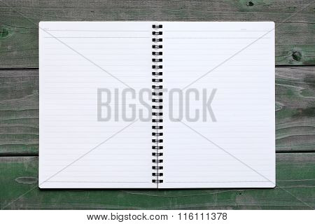 blank spiral notebook with lined