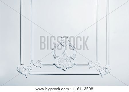Beautiful White Architectural Relief Pattern