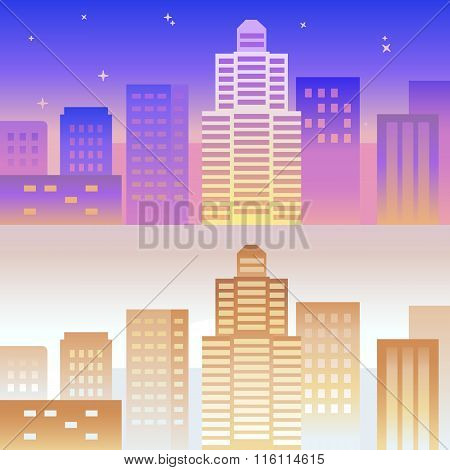 Vector Horizontal Banner And Background In Bright Gradient Colors