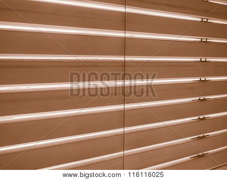Window Blinds In Black And White Vintage