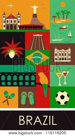 Symbols Of Brazil.