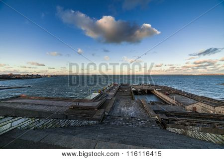 Baltic sea in Talliinn Linnahall